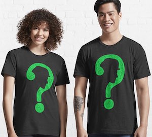 The Riddler Question mark Face T-Shirt