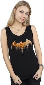 Orange Moon Batman Logo Tank Top