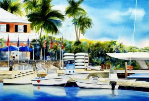 """Bermuda Yacht Club"" by Phyllis London"