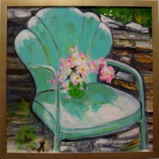 Rocking Dogwood oil by Thelma Snyder