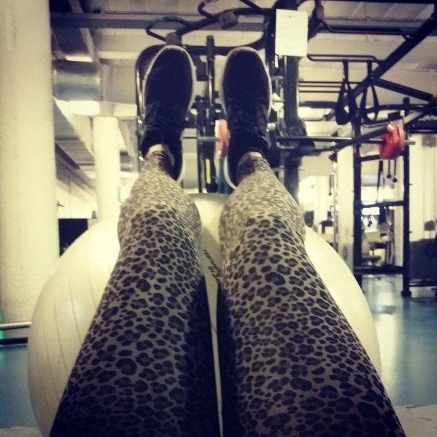#Legfie in de sportschool