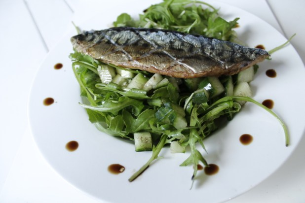 Paleo Mackerel-Rocket Salad { Gluten Free }