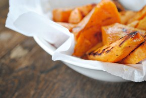 Salty cinnamon sweet potato fries