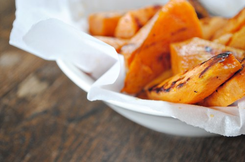 Salty cinnamon sweet potato fries