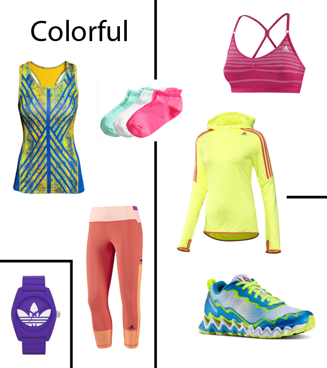 Colorful running appaeal spring/summer 2014. Copyright: Annewil Hokken