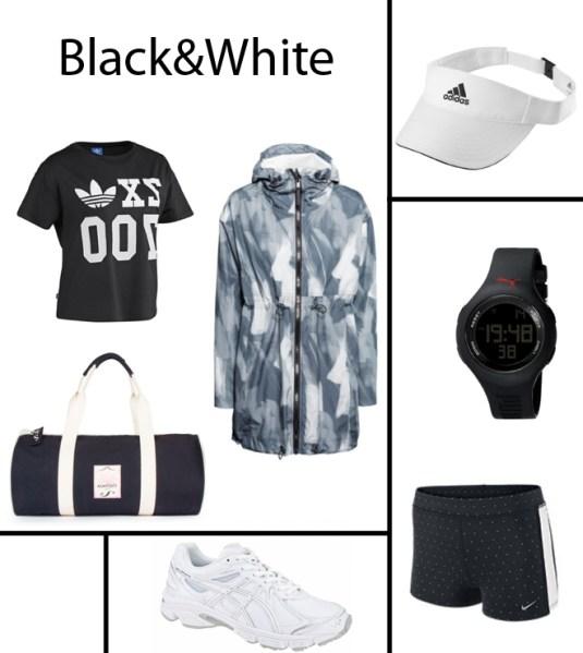 Black & White running appaeal spring/summer 2014. Copyright: Annewil Hokken