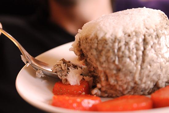 Vegan jiggly chia coconut pudding