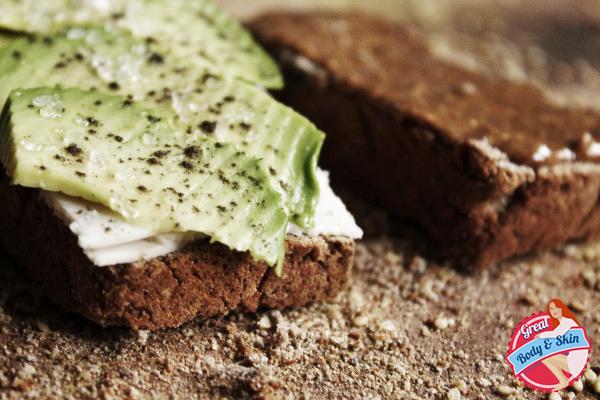 gluten free bread with avocado