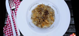 Sweet potato sauerkraut mash