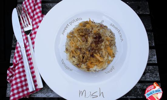 Sweet potato sauerkraut mash