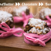 Vegan Gluten Free Almond Butter & Chocolate Banana Protein Muffins