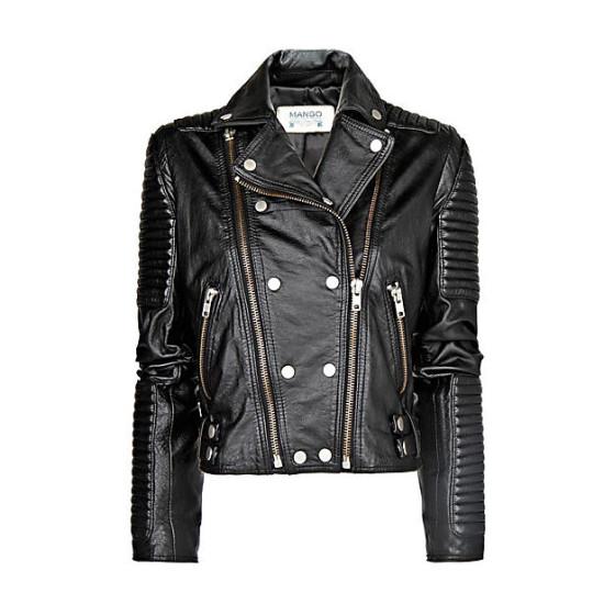 Mango perfect black leather jacket