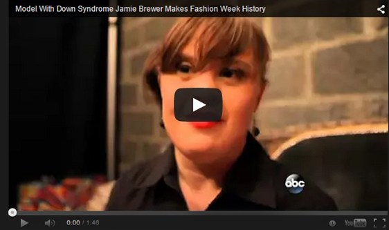 Model with Down's Syndrome at New York Fashion Week