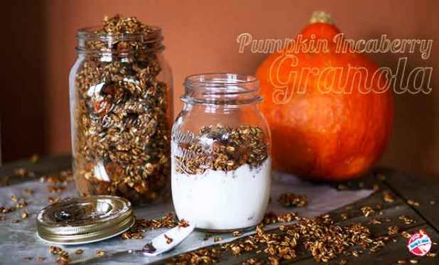pumpkin incaberry granola
