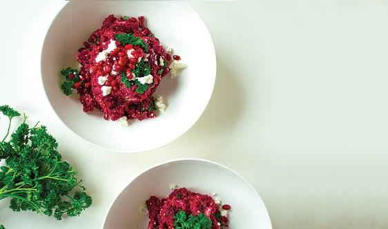 quinoa beet goatcheese salad
