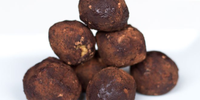 Chocolate Coated Almond Butter Truffle Balls