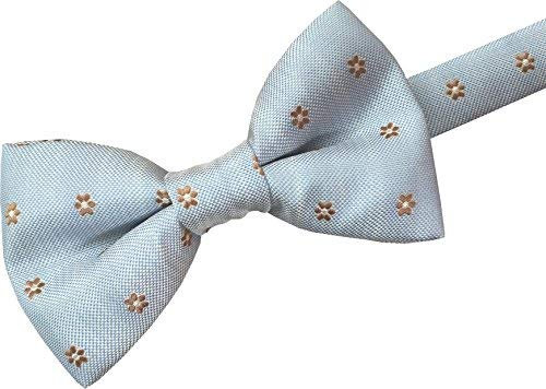 Men/'s Stylish Bow Tie Grey with Cream and Cerise Circular Design