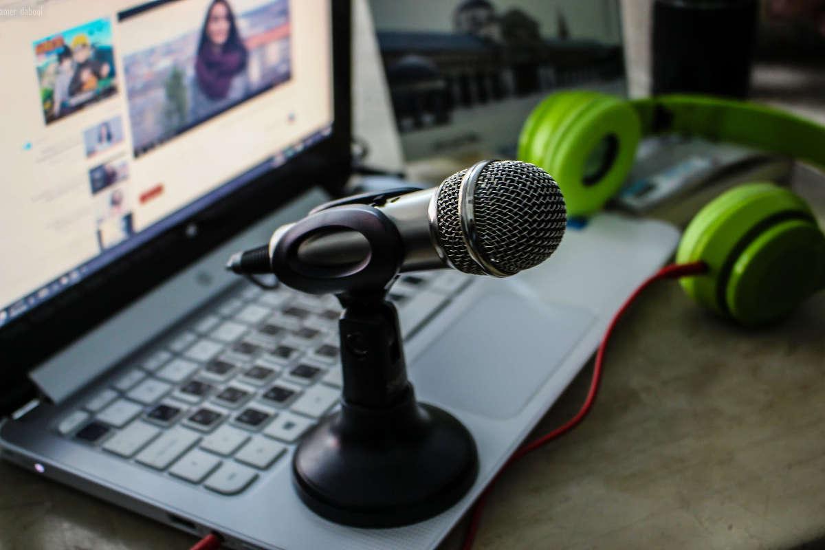 Mikrofon på en bärbar dator