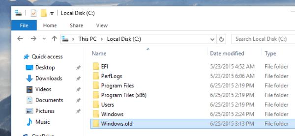 Windows.old folder