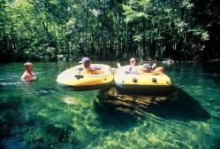 Inner tubes on River