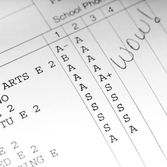 report card good grades square