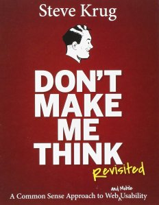 Cover of Don't make me think by Steve Krug