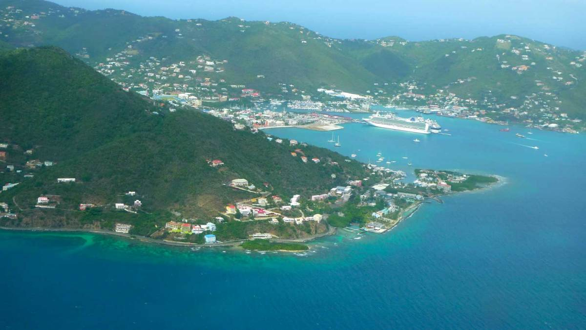 Approaching Roadtown, Tortola
