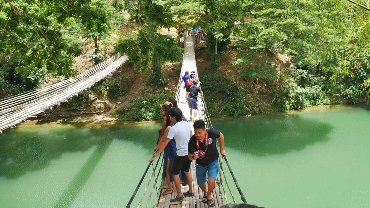 Bohol-bamboo-bridge