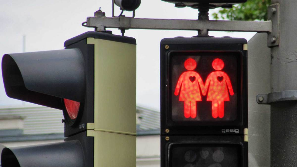 Same sex crossing lights were introduced for Vienna hosting the Eurovision Song Contest in 2015