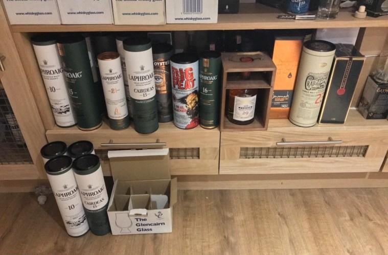 storing whisky