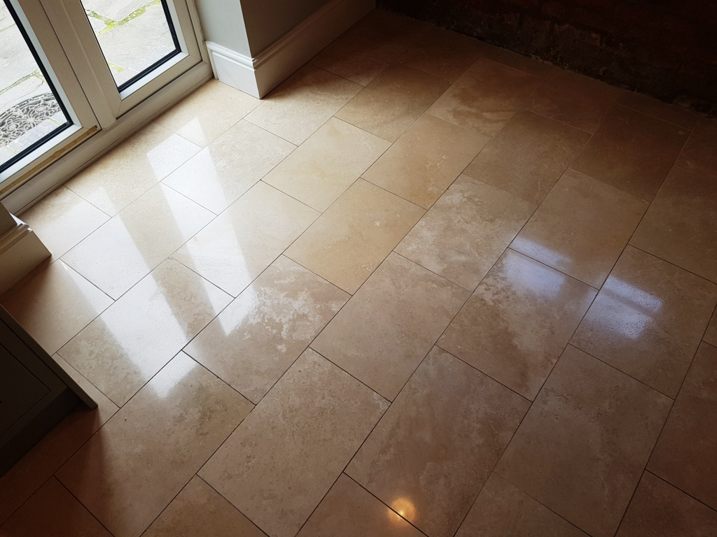 Bathroom Floor Tiles Sealing : Restoring the appearance of travertine floor tiles in