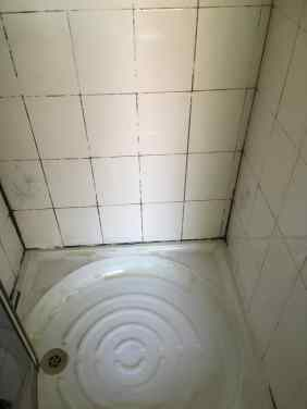 Grubby Shower Cubicle Before Renovation Chorlton Cum Hardy Rental Property