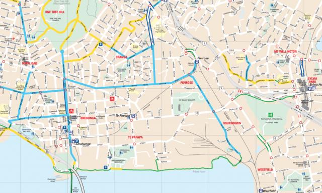 Onehunga cycle network
