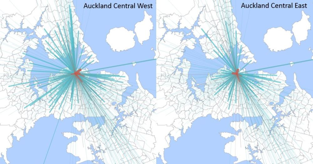 Census Journey to Work - Auckland Central West and East