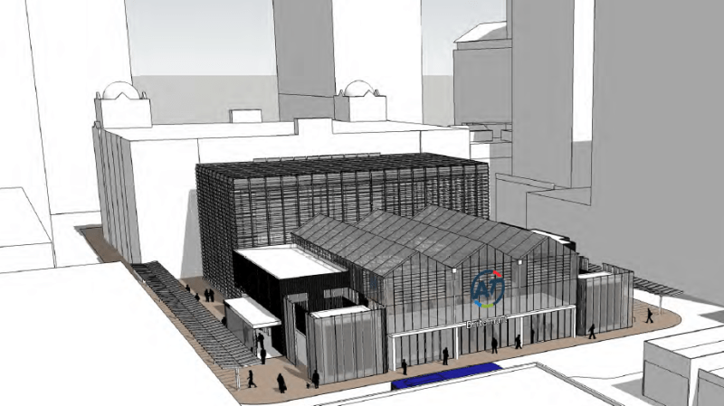 3D view of temporary Briotmart station CRL2