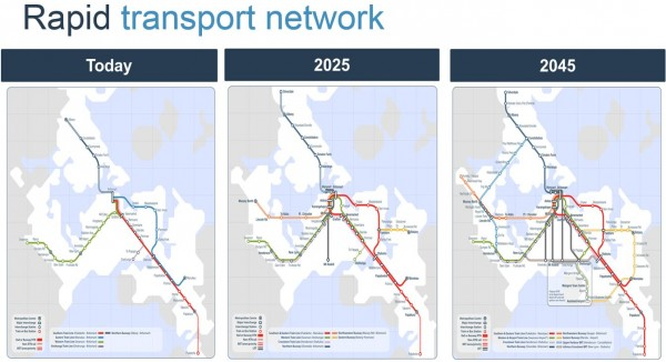 AT Rapid Transit Network 2015-2045