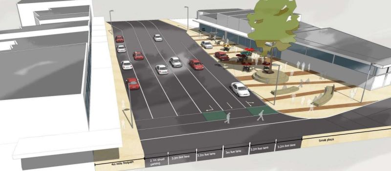Mt Albert Town Centre Upgrade - NN Rd North Plaza 2