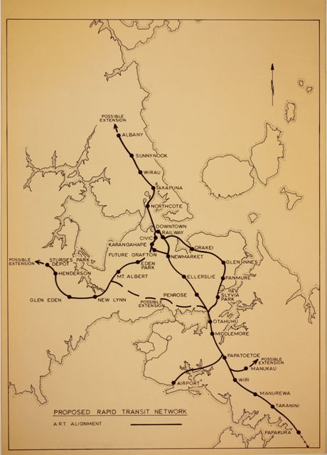 1970 - Proposed Rapid Transit Network