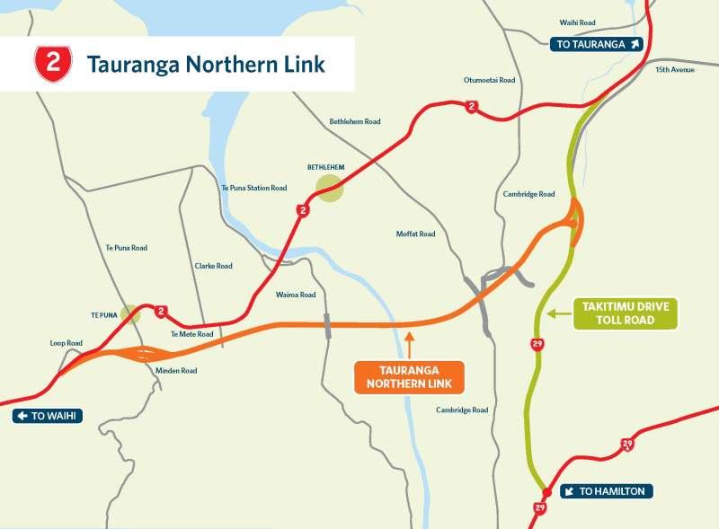 Tauranga Northern Link Map