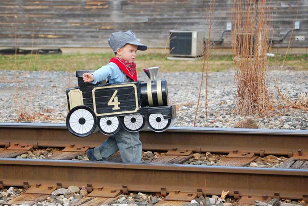 DIY Train Costume