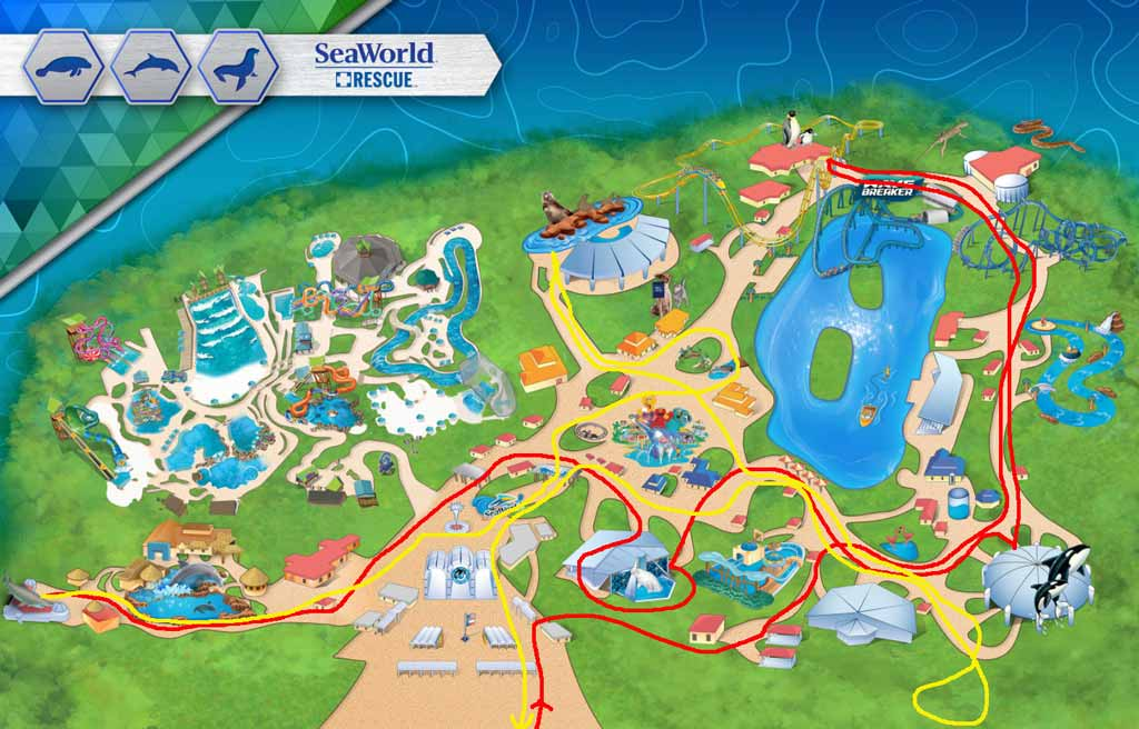SeaWorld Overnight Walking Map