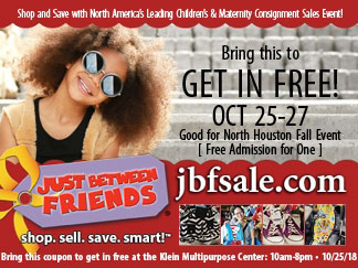 Just Between Friends Free Pass Coupon