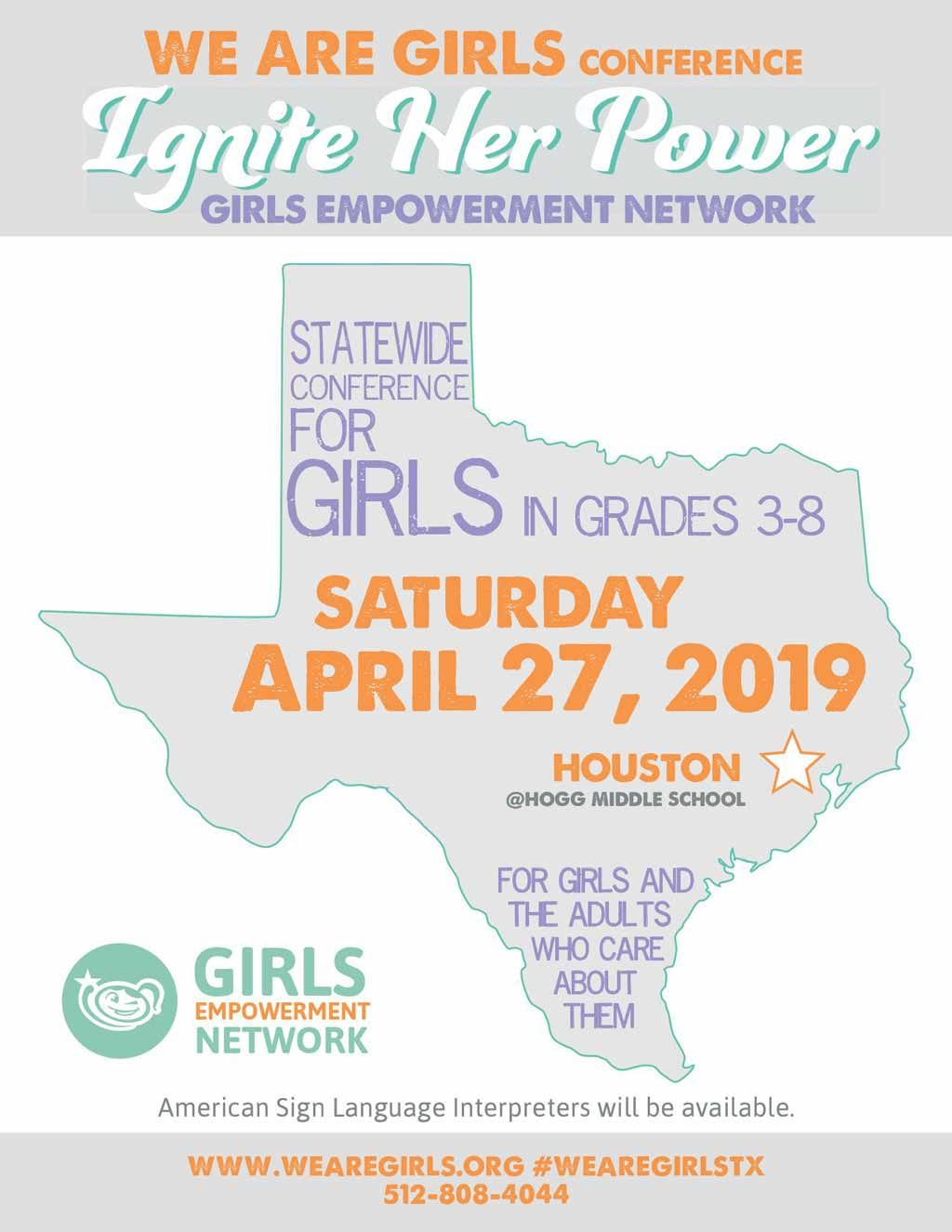 We Are Girls Houston graphic flyer 2019