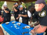 Police Officers eating