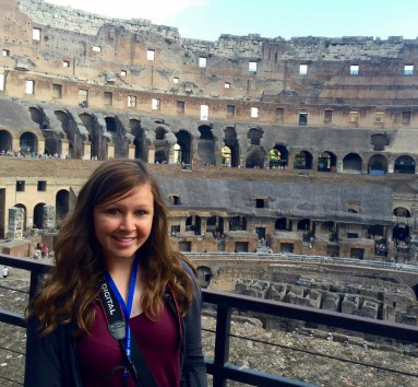 Me visiting the Colosseum in Rome.
