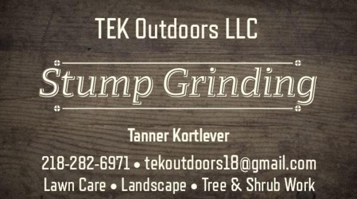 TEK Outdoors Stump Grinding