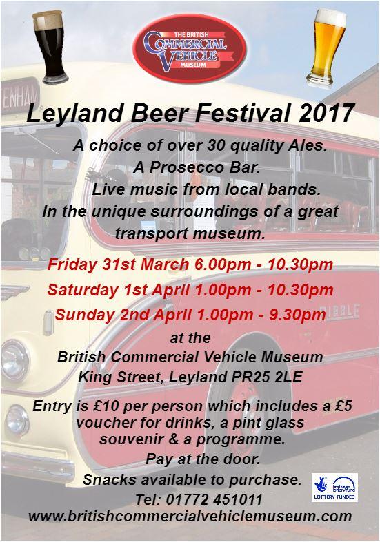 Leyland Beer Festival 2017