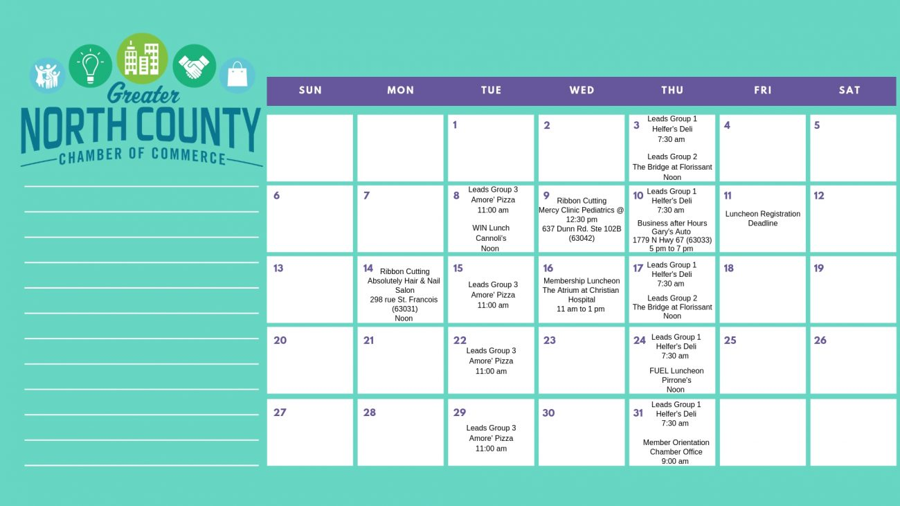 Printable January Calendar Greater North County Chamber Of Commerce