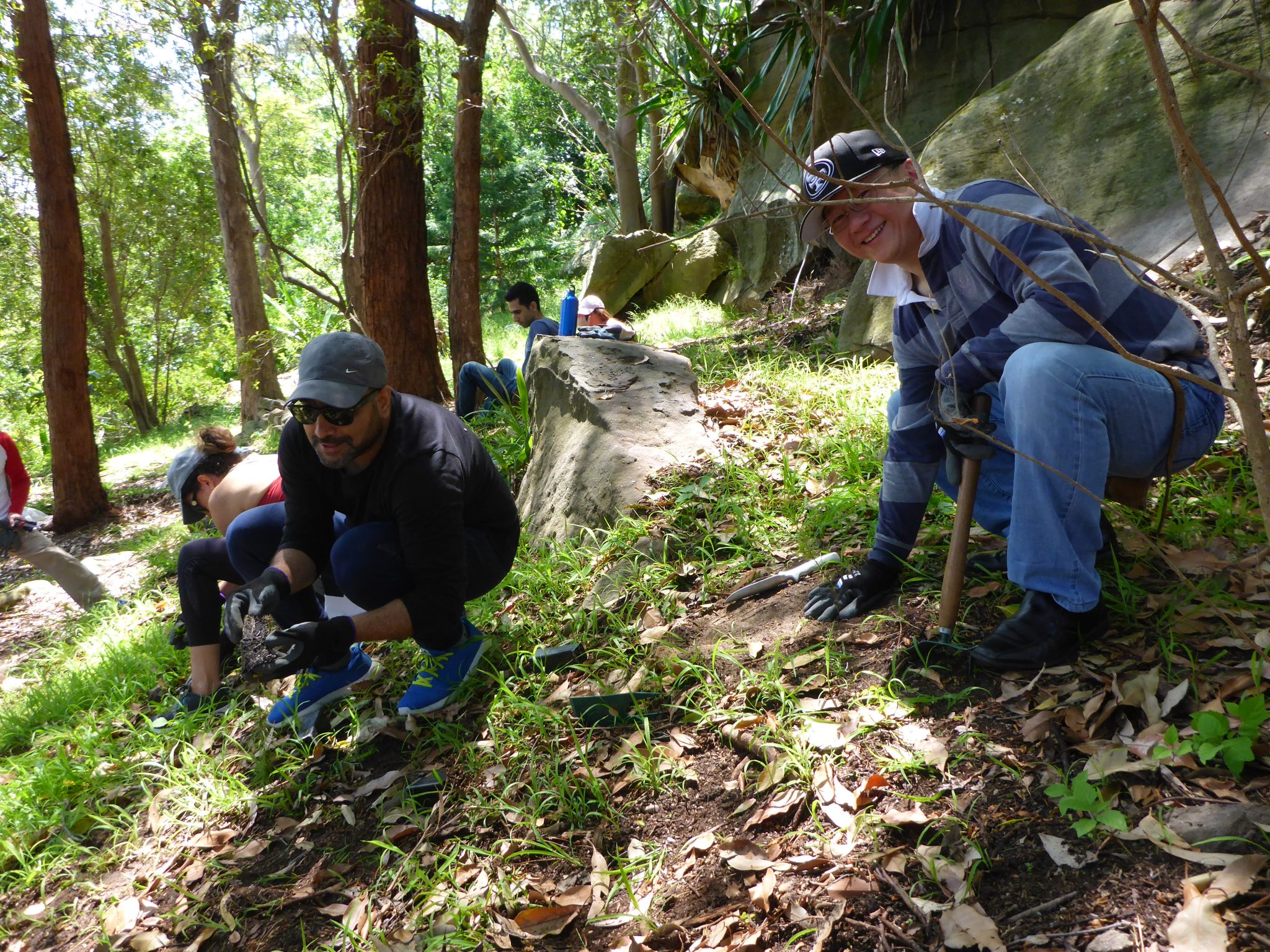 Corporate Landcare at St Ignatius' College Riverview   Greater