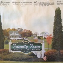 Place-mat from Friendly Farms